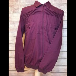 John Blair Men's Full Zip Long Sleeve Shirt LG